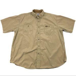 Carhartt Short Sleeve Work Button Down Men's XL